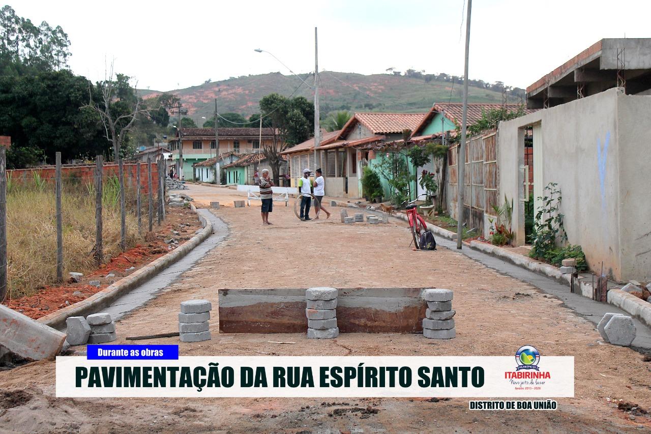 PAVIMENTAÇÃO DA RUA ESPÍRITO SANTO