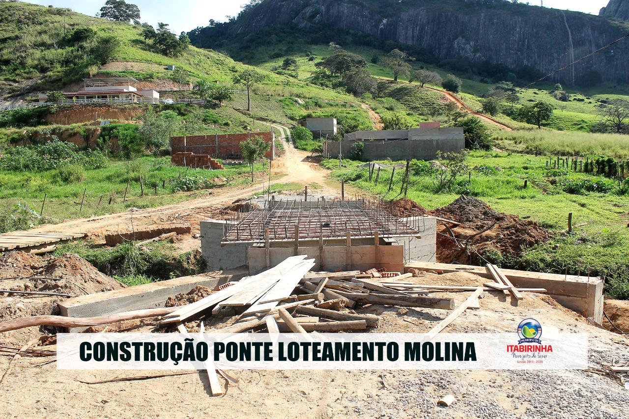 CONSTRUÇÃO DE PONTE NO LOTEAMENTO MOLINA