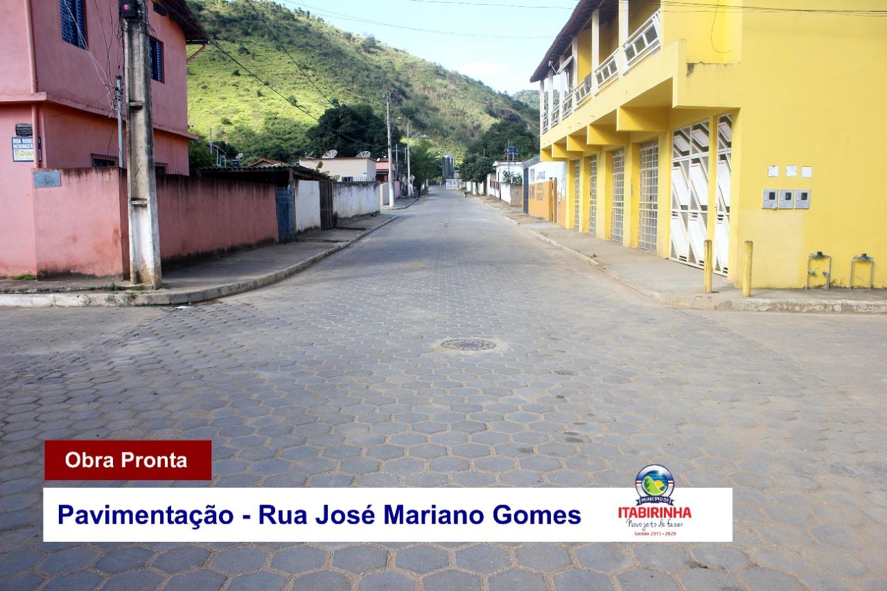 PAVIMENTAÇÃO - RUA JOSÉ MARIANO GOMES
