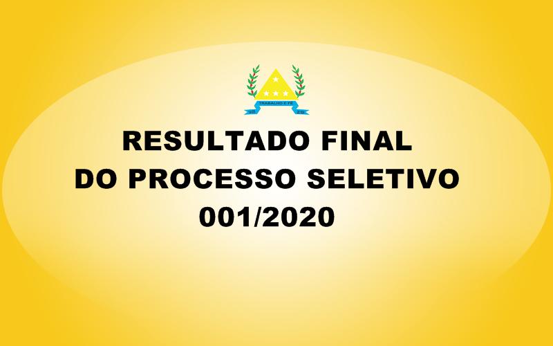 CLASSIFICAÇÃO FINAL DO PROCESSO SELETIVO 001/2020