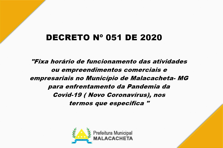 DECRETO Nº 051 DE 2020