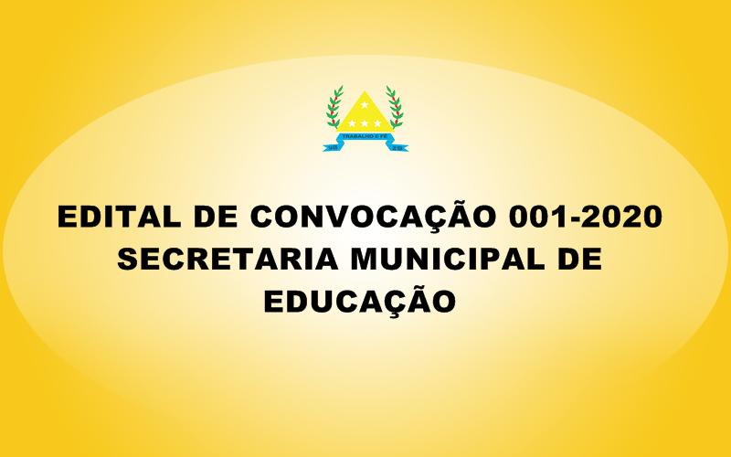 EDITAL DE CONVOCAÇÃO Nº 001-2020