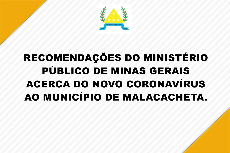 NOTA INFORMATIVA - RECOMENDAÇÕES DO MINISTÉRIO PÚBLI...