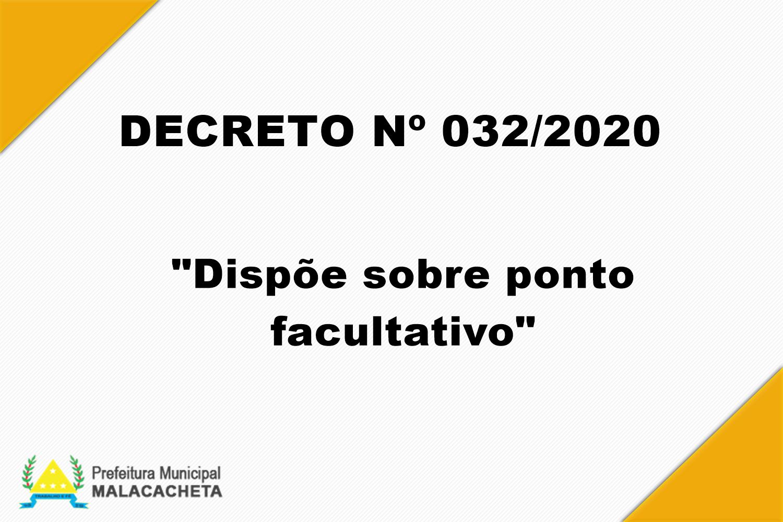 PORTARIA Nº 032 DE 15 DE ABRIL DE 2020