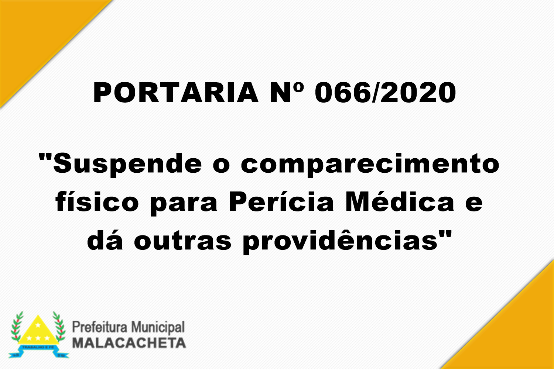 PORTARIA Nº 066 DE 2020