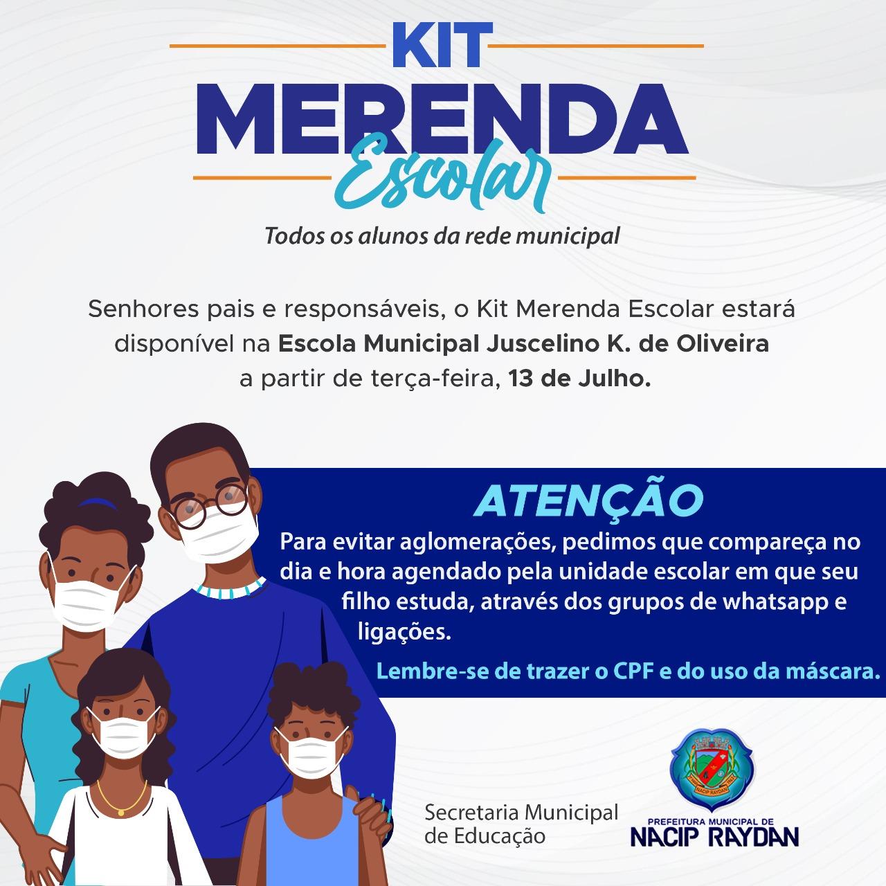 ENTREGA DE KIT MERENDA ESCOLAR - TODOS OS ALUNOS DA ...