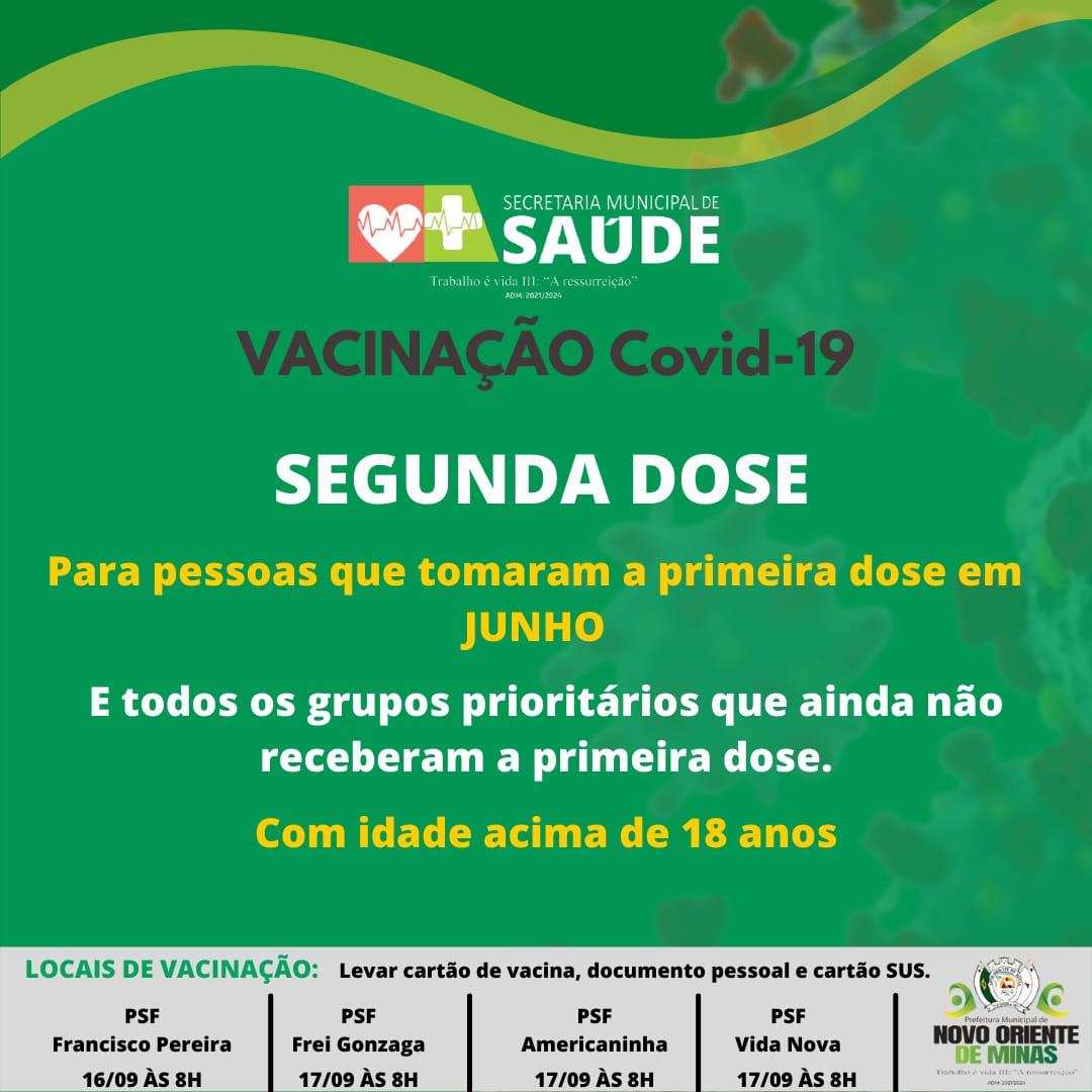 VACINAÇÃO COVID-19: SEGUNDA DOSE DOS QUE TOMARAM A P...