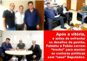 """A DUPLA FABINHO E FABÃO INICIA GOVERNO NA COLA DE """"S..."""