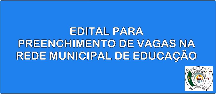 A PREFEITURA ATRAVÉS DA SECRETARIA DE EDUCAÇÃO DIVUL...