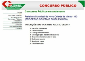 PREFEITURA ABRE PROCESSO SELETIVO SIMPLIFICADO