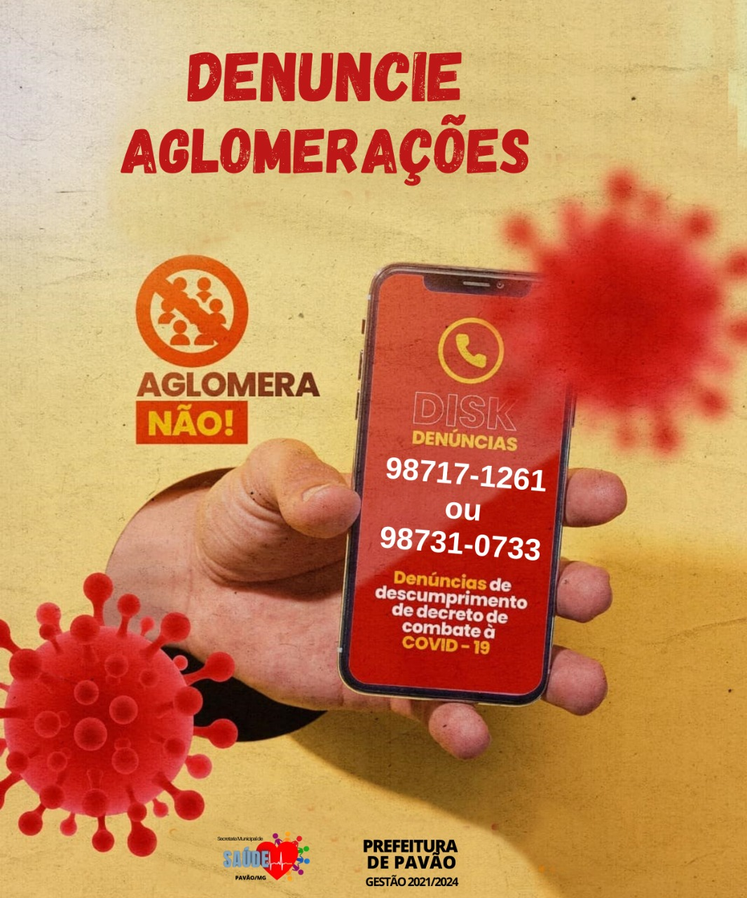 DENUNCIE AGLOMERAÇÃO!