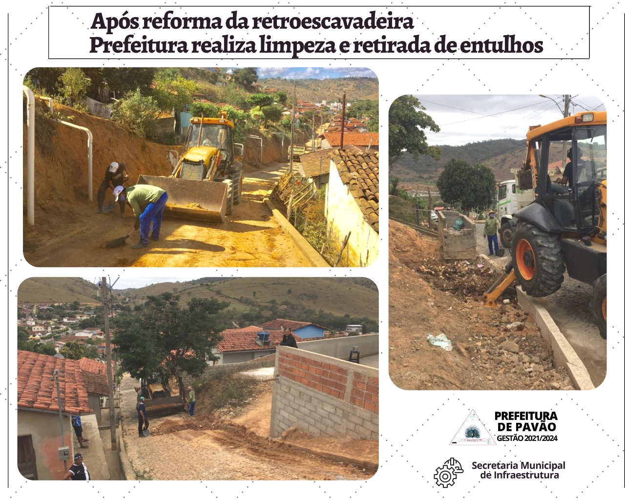 PREFEITURA REALIZA LIMPEZA E RETIRADA DE ENTULHOS