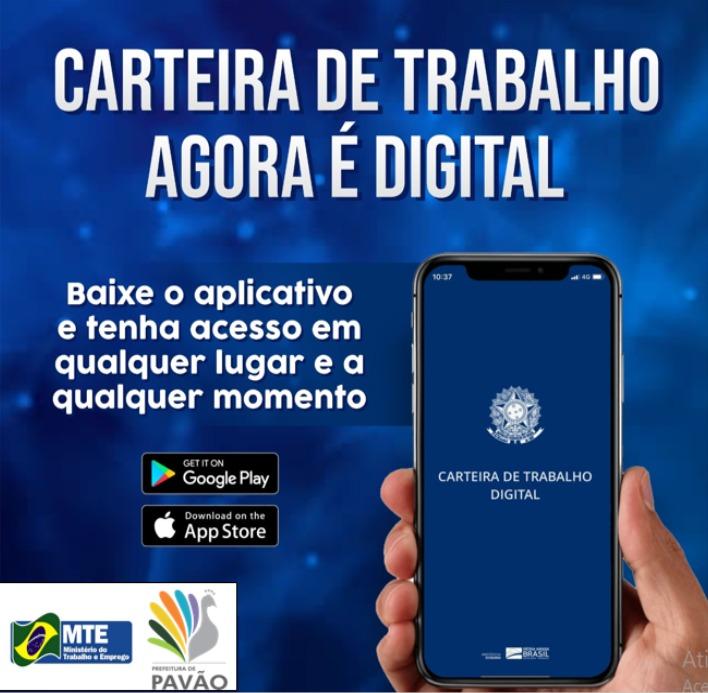 A CARTEIRA DE TRABALHO AGORA É DIGITAL
