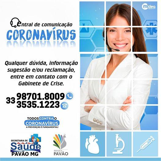 CENTRAL DE COMUNICAÇÕES - CORONAVÍRUS
