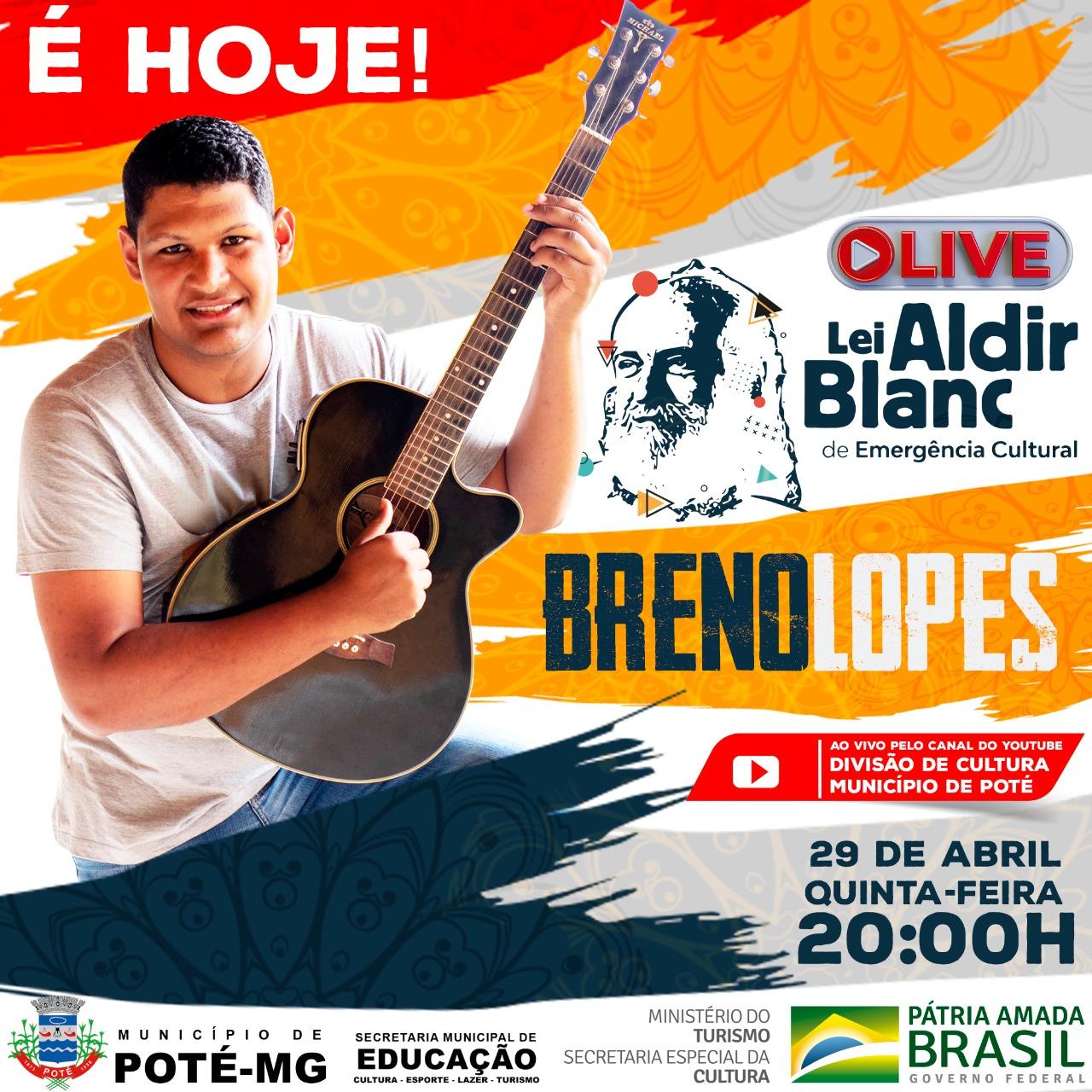 É HOJE! LIVE LEI ALDIR BLANC - 29/04/2021