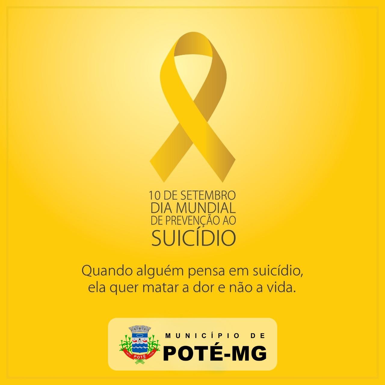 10 DE SETEMBRO: DIA MUNDIAL DE PREVENÇÃO AO SUICÍDIO