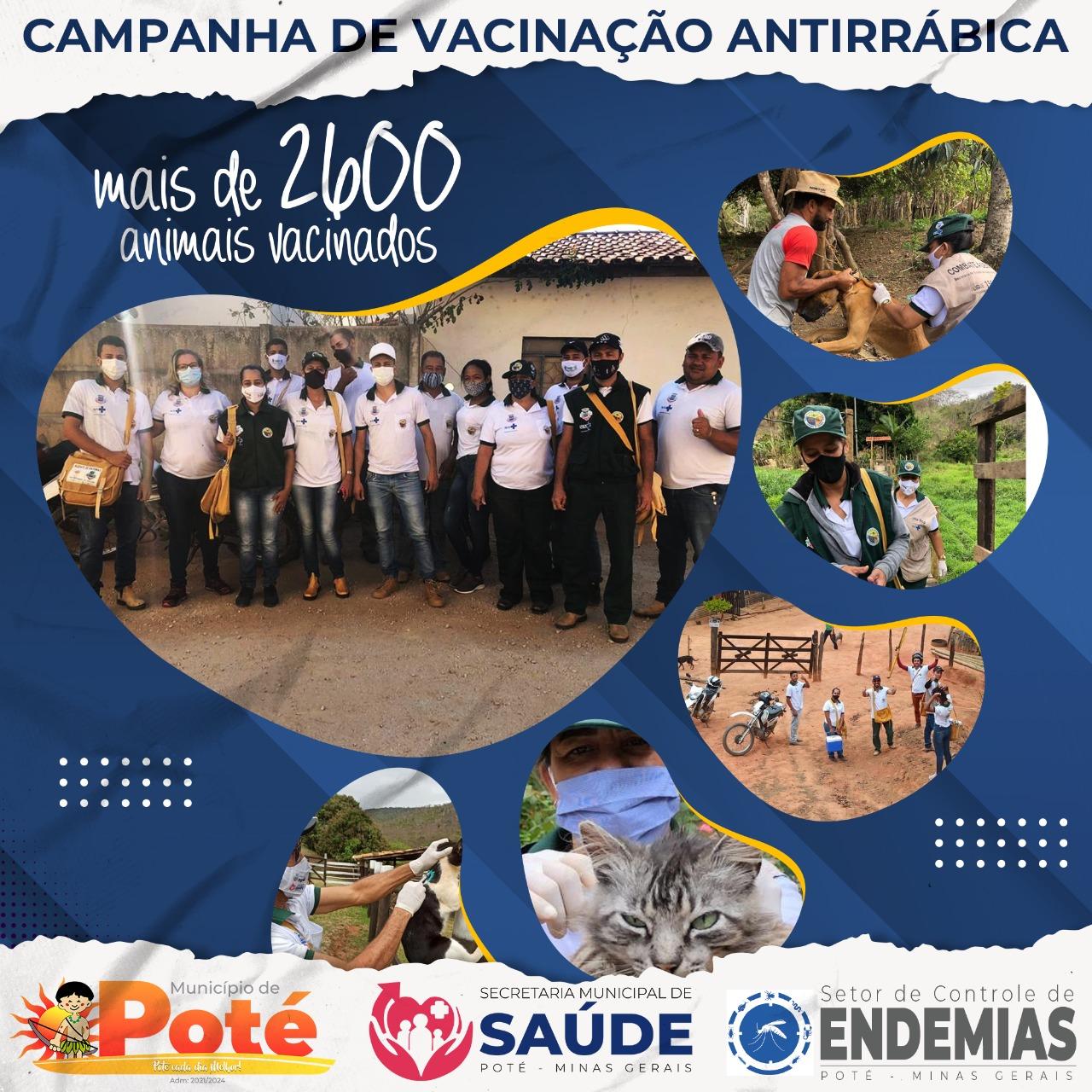 CAMPANHA DE VACINAÇÃO ANTIRRÁBICA - MAIS DE 2600 ANI...