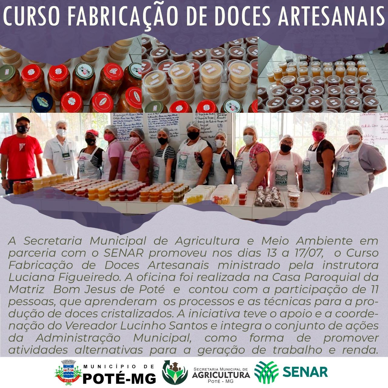 CURSO FABRICAÇÃO DE DOCES ARTESANAIS