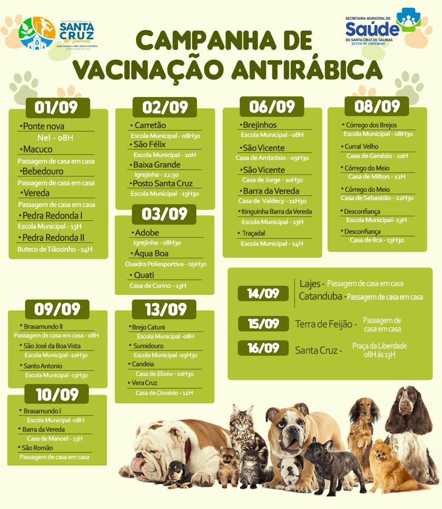 CAMPANHA DE VACINAÇÃO ANTIRRÁBICA - SANTA CRUZ DE SA...