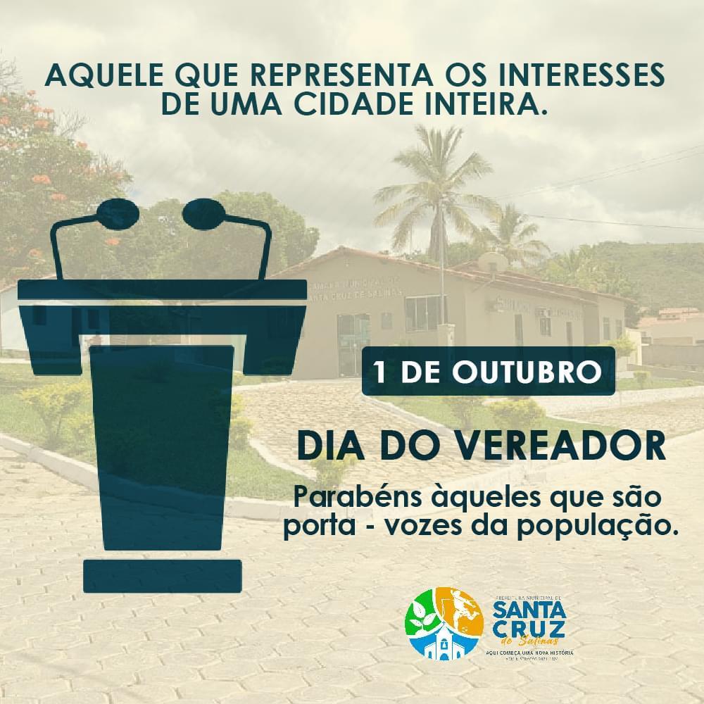 DIA DO VEREADOR - 01 DE OUTUBRO