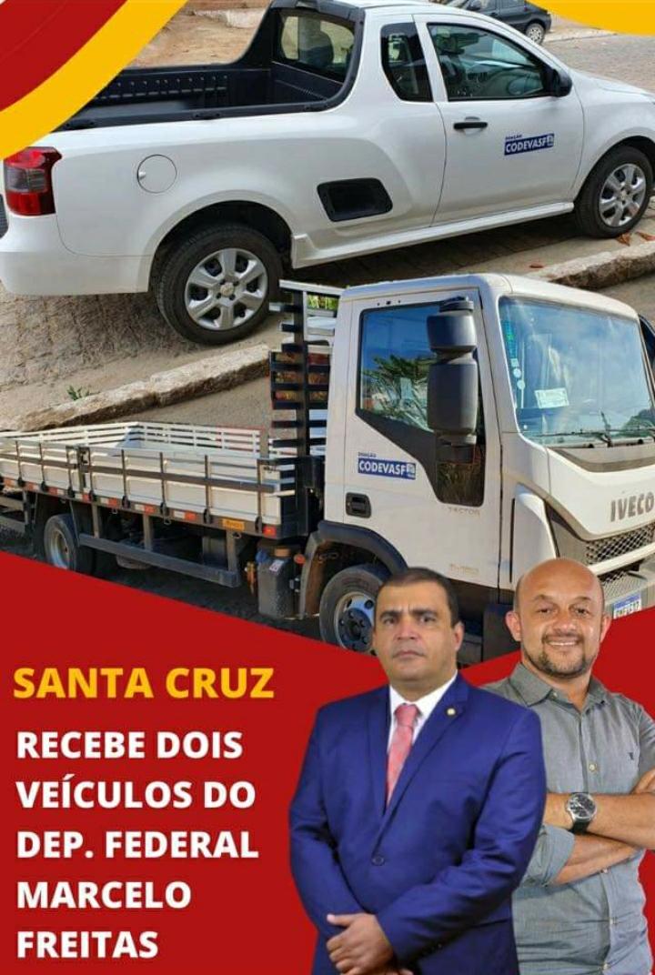 SANTA CRUZ DE SALINAS RECEBE DOIS VEÍCULOS DO DEP. F...
