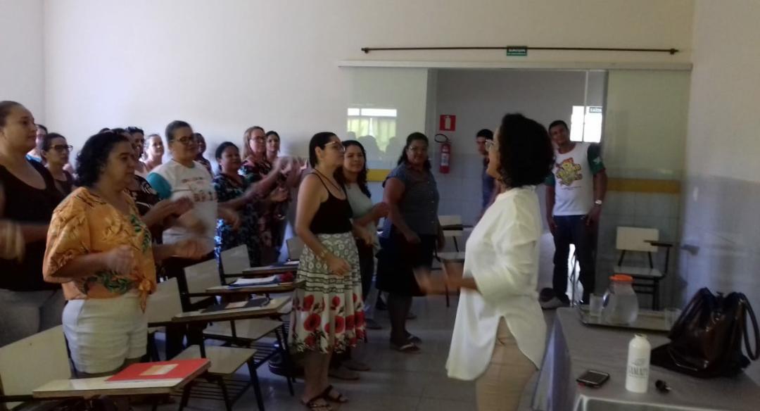 ENCONTRO DE FORMAÇÃO DAS ESCOLAS MUNICIPAIS DE SANTA...