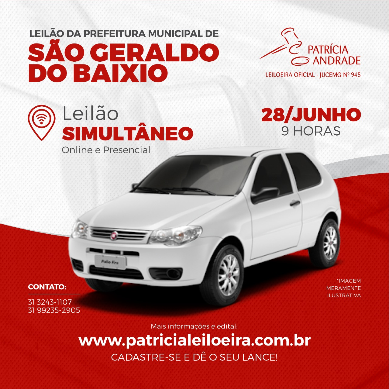 LEILÃO DA PREFEITURA MUNICIPAL DE SÃO GERALDO DO BAIXIO