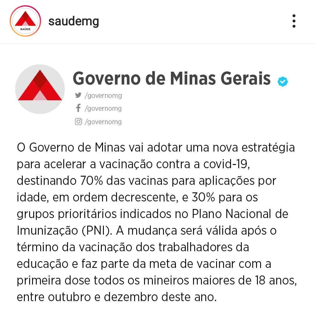 GOVERNO DE MINAS VAI ADOTAR NOVA ESTRATÉGIA PARA ACE...