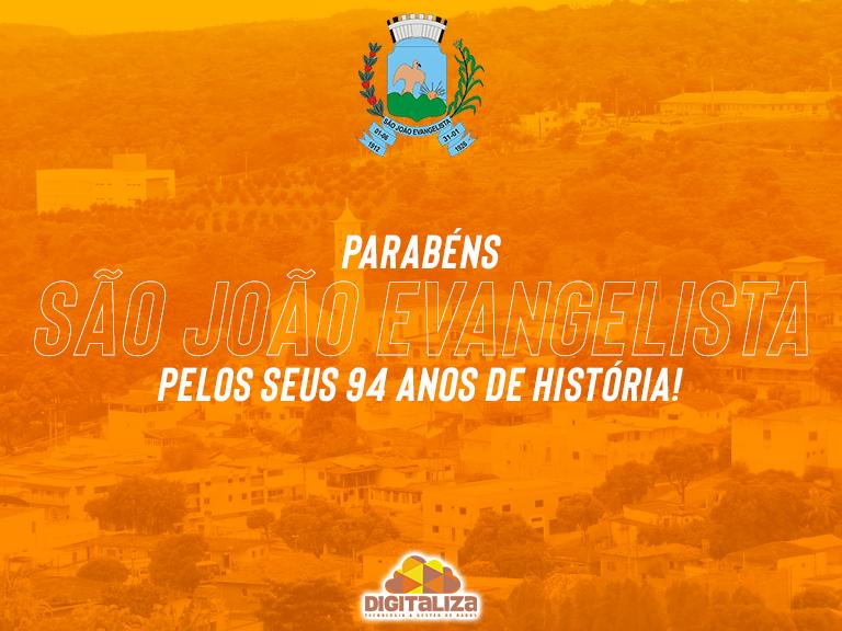 Parabéns São João Evangelista! 94 anos!