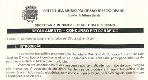 CONCURSO FOTOGRÁFICO REALIZADO PELA SECRETARIA MUNIC...