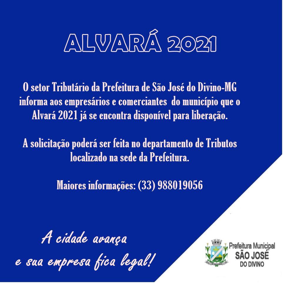 INFORMATIVO - ALVARÁ 2021
