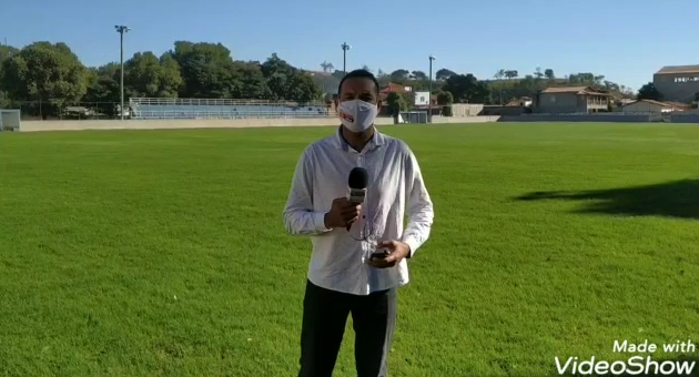 Andamento das obras do estádio Municipal Sebastião C...