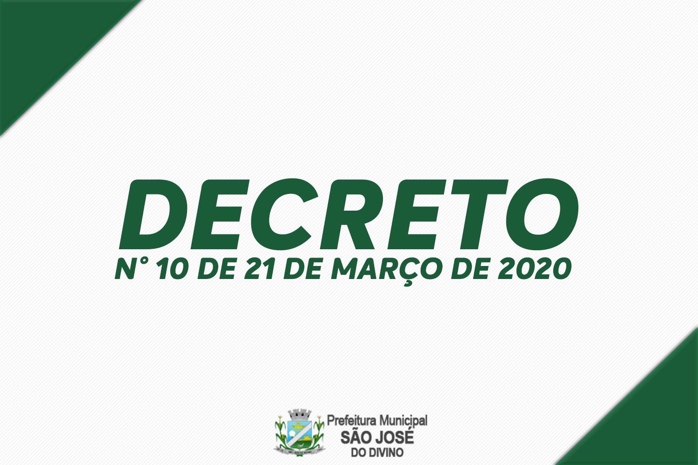 Decreto Nº 10 de 21 de Março de 2020