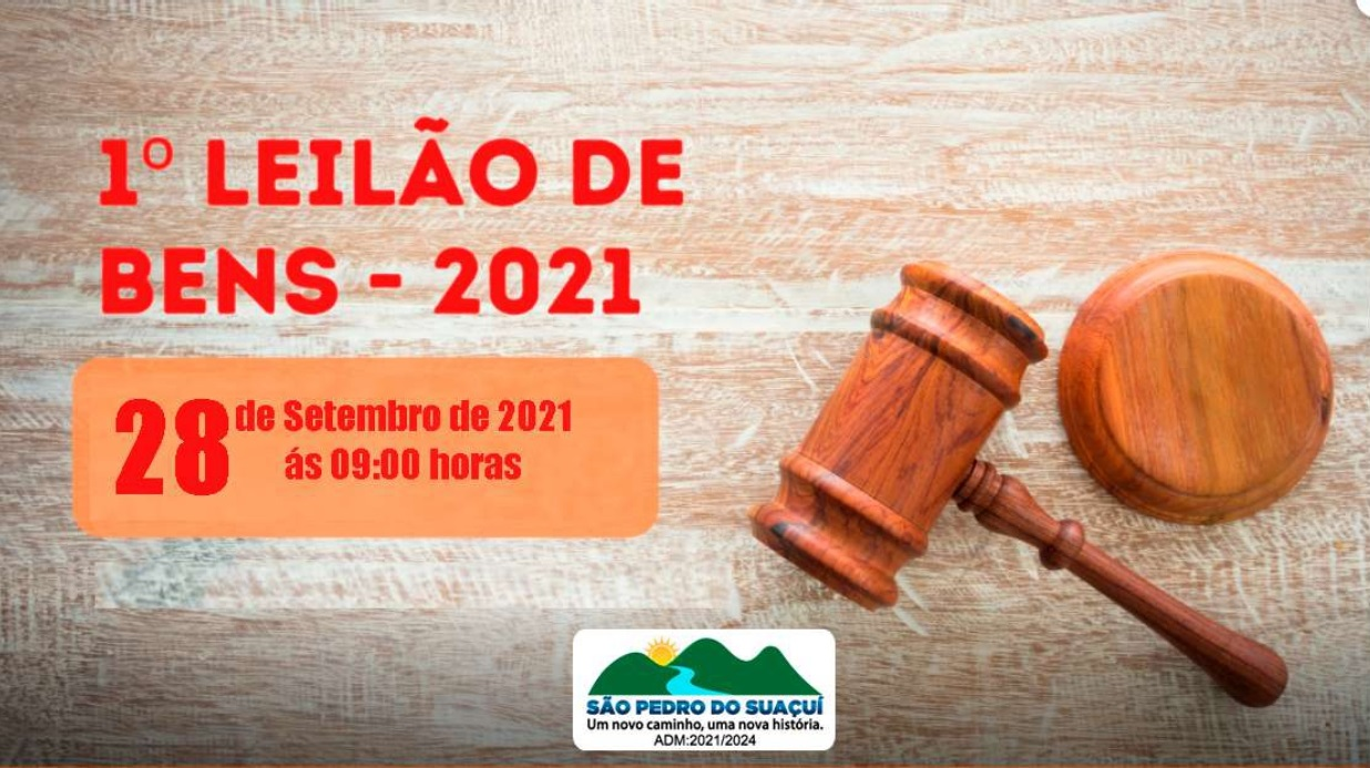1º LEILÃO DE BENS - 2021