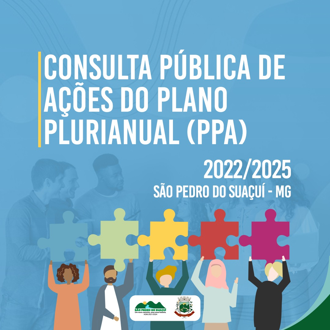 CONSULTA PÚBLICA DE AÇÕES DO PLANO PLURIANUAL