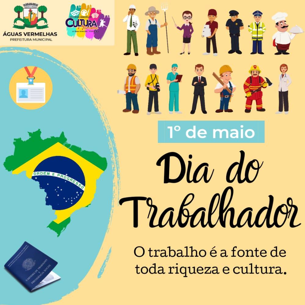 1º DE MAIO. FELIZ DIA DO TRABALHADOR!