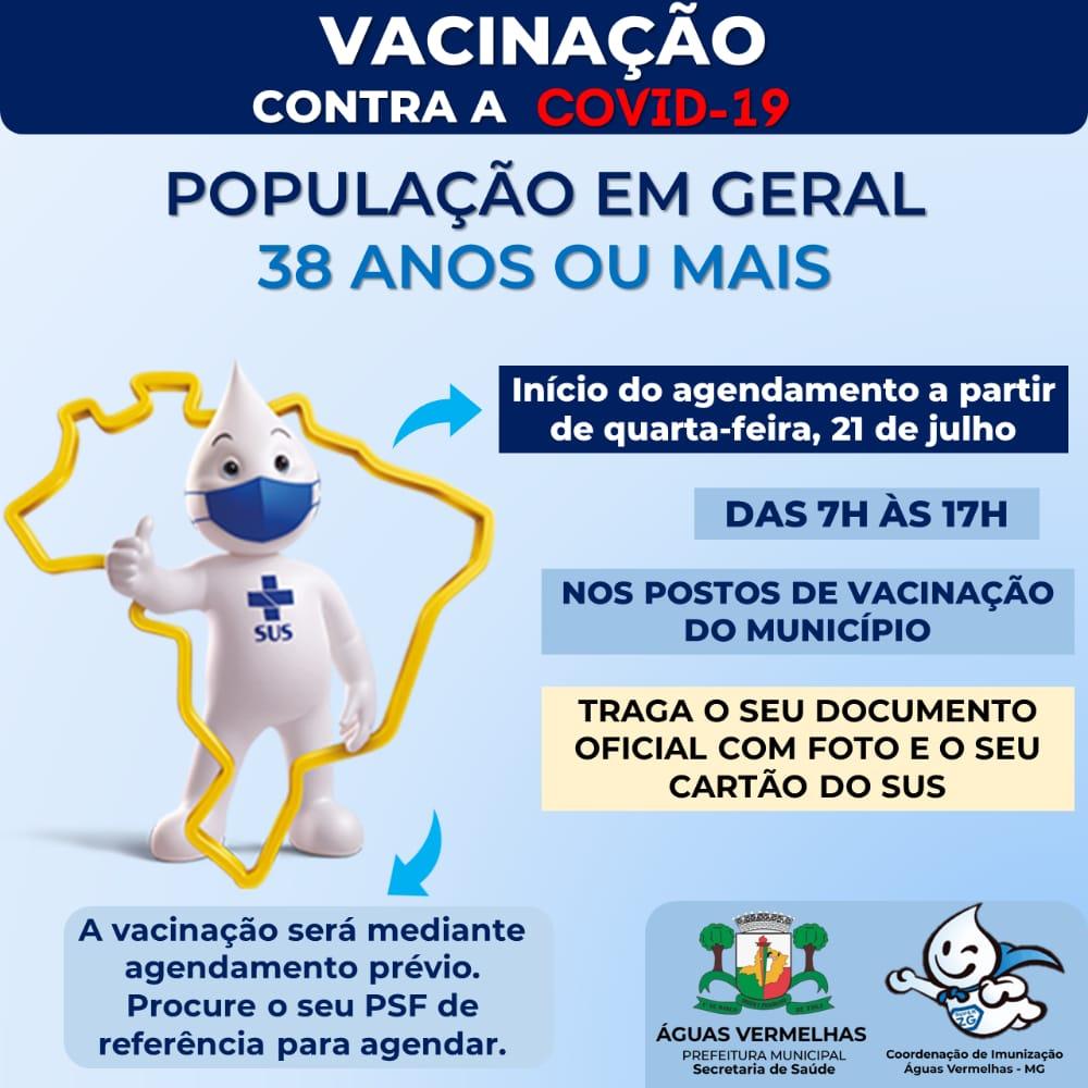 VACINAÇÃO CONTRA A COVID-19 POPULAÇÃO EM GERAL 38 AN...