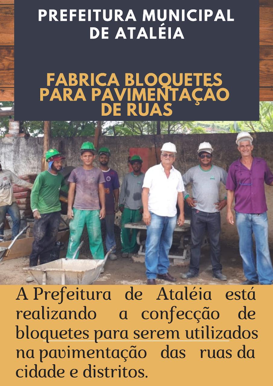 Prefeitura fabrica Bloquetes para Pavimentação das Ruas