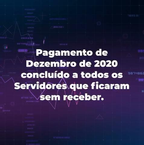 PAGAMENTO DE DEZEMBRO DE 2020 PAGO