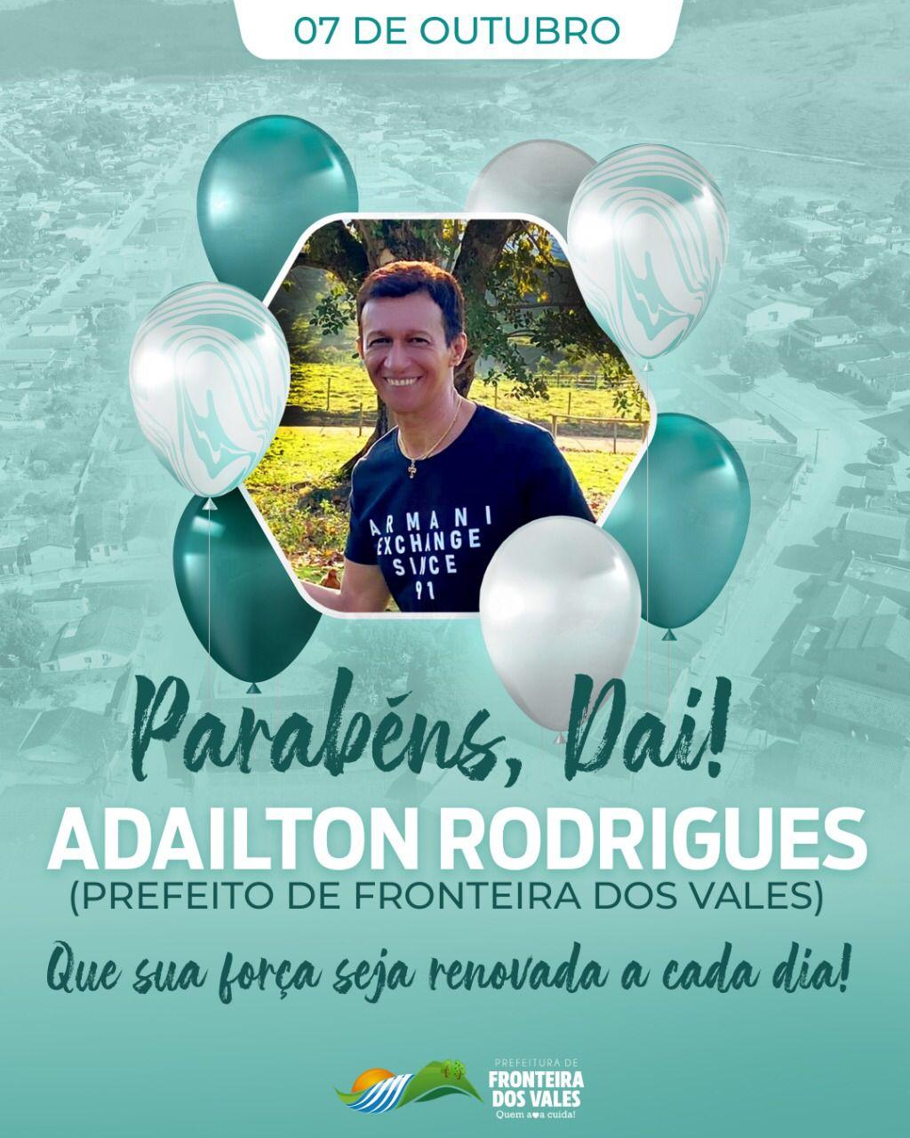 PARABÉNS, DAI! PREFEITO DE FRONTEIRA DOS VALES
