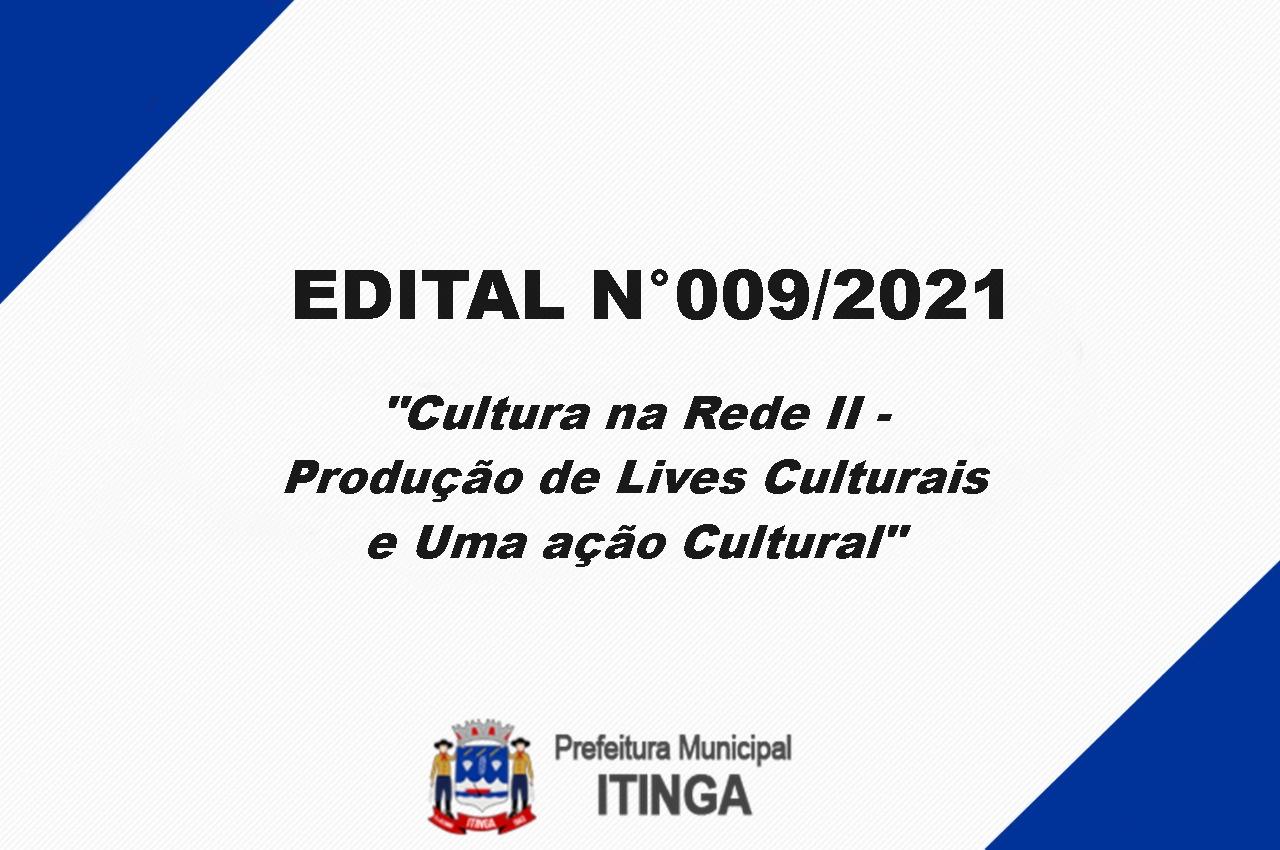 RESULTADO DO EDITAL Nº 009/2021