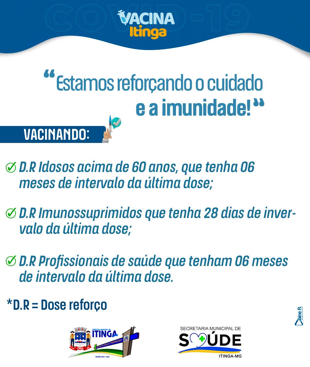 INFORMATIVO SAÚDE - DOSE DE REFORÇO