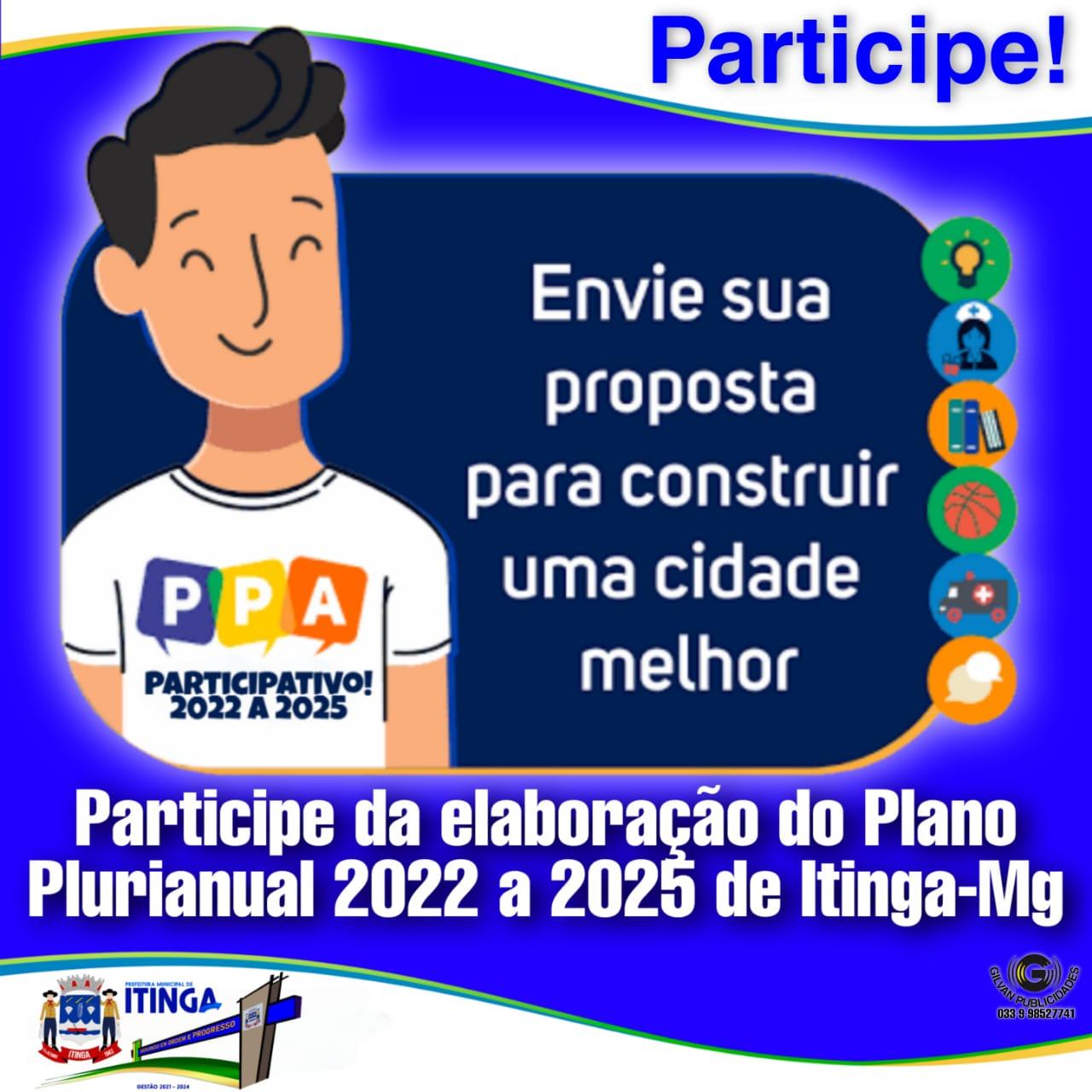 PREFEITURA CONVIDA POPULAÇÃO A PARTICIPAR DA ELABORA...