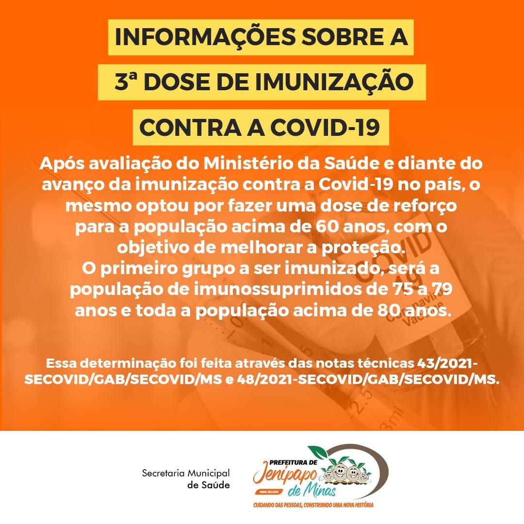 INFORMAÇÕES SOBRE A 3ª DOSE DE IMUNIZAÇÃO CONTRA A C...