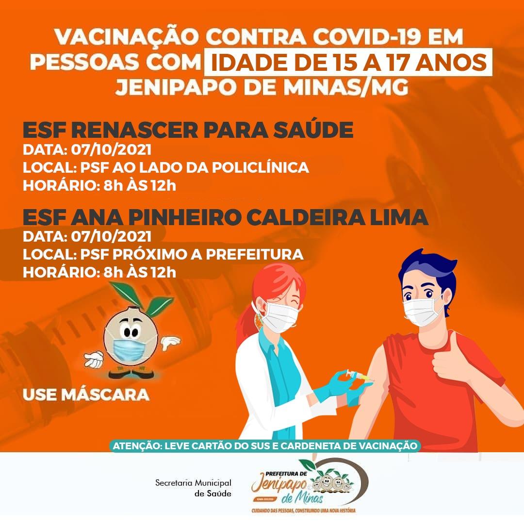 VACINAÇÃO CONTRA COVID-19 EM PESSOAS COM IDADE DE 15...