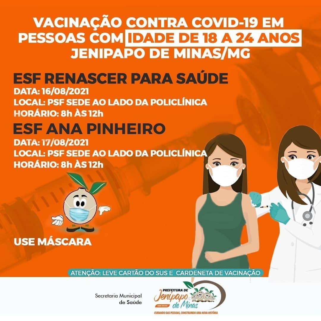 VACINAÇÃO CONTRA COVID-19 EM PESSOAS COM IDADE DE 18...