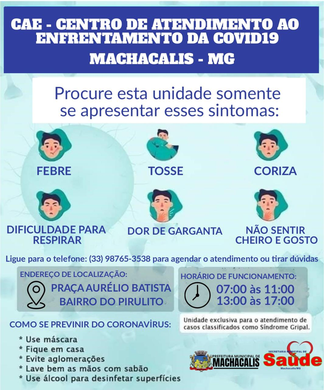 PRESTEM ATENÇÃO NO FLUXO DE ATENDIMENTO CAE COVID 19