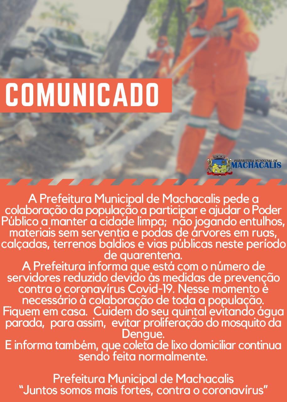 COMUNICADO - COLETA DE LIXO