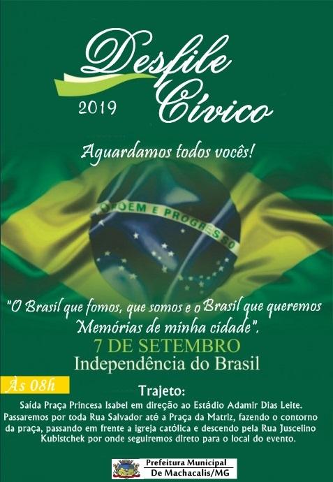 DESFILE CÍVICO EM COMEMORAÇÃO À INDEPENDÊNCIA DO BRASIL