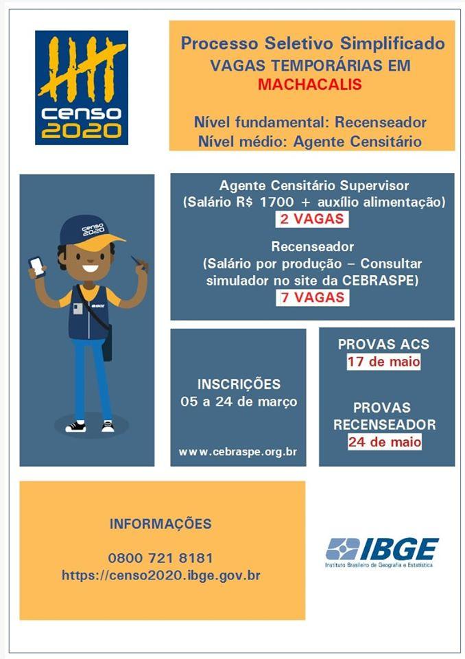 PROCESSO SELETIVO SIMPLIFICADO IBGE - 2020